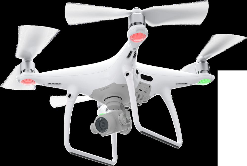 DJI Phantom 4 Drone In Flight