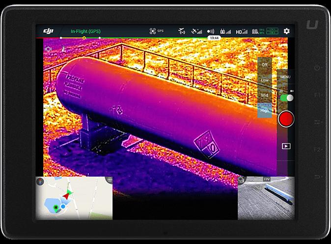 DJI FLIR Zenmuse XT2 HazMat Inspection Tablet View